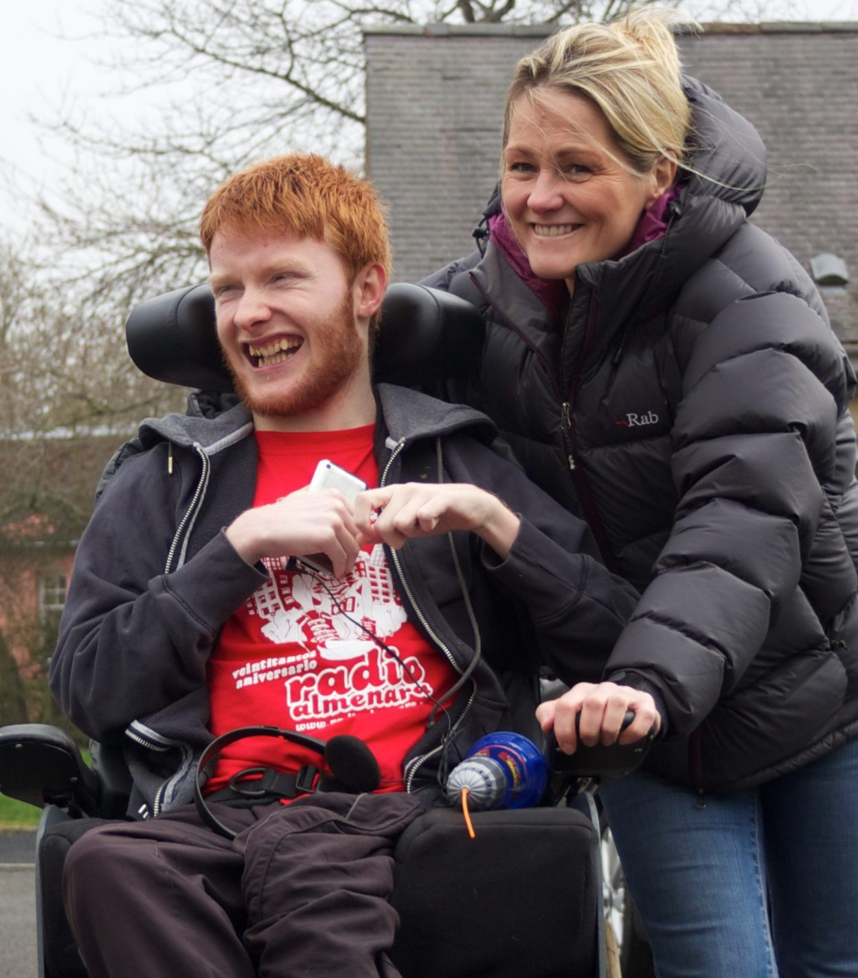 A young man who is supported by an Aberlour residential disability service