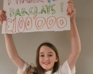 Thank you Barclay's for £100,000 donation to help children living in poverty across Scotland